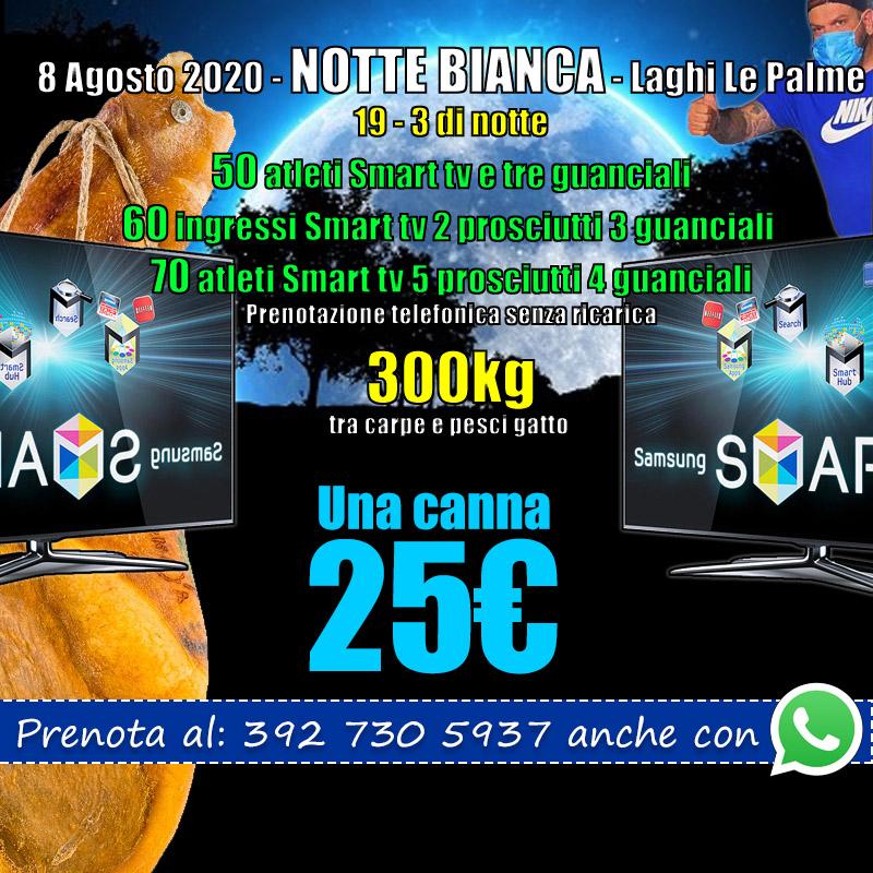 Evento di pesca a Roma 1° Agosto 2020 in notturna